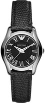 Emporio Armani Ar1712 Stainless Steel And Leather Watch