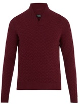 Zanone Shawl-neck Wool Sweater
