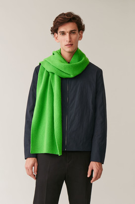 Cos Chunky Ribbed Cashmere Scarf