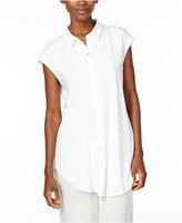 Eileen Fisher Jersey Cap-Sleeve Shirt, Regular & Petite