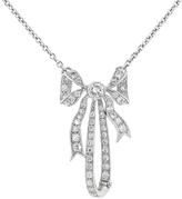 Lucie Campbell Designer Diamond Bow Pendant - Platinum