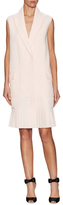 Christian Dior Wool Peak Lapel Pleated Shift Dress
