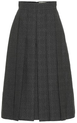 Fendi Pleated wool midi skirt