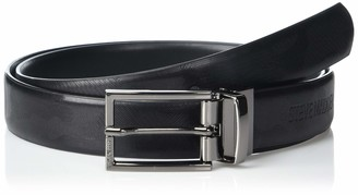 Steve Madden Men's Reversible Smooth Leather Belt