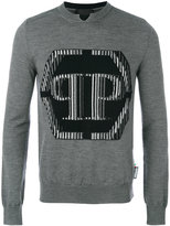 Philipp Plein logo patch jumper