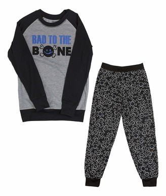 Joe Boxer Big Boy's Bad to The Bone Tee/Pant Set Sleepwear