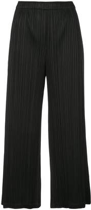 Pleats Please Issey Miyake pleated wide-leg trousers