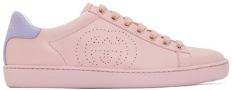 Gucci Pink Interlocking G New Ace Sneakers