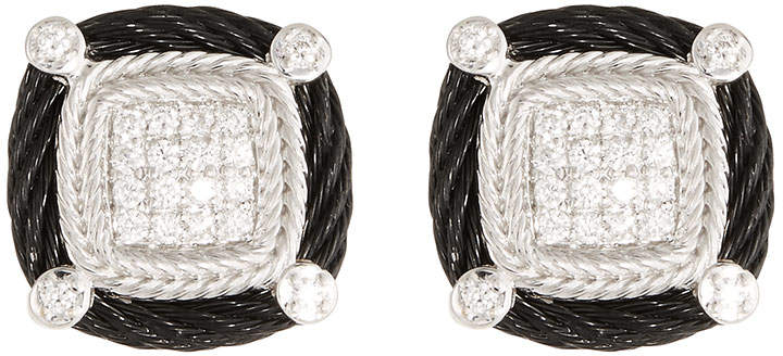 Alor Noir Diamond Stud Earrings, Black