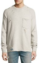 Hudson Rocco Raglan Distressed Sweatshirt, Habitude Gray