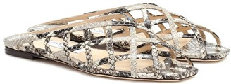 Jimmy Choo Sai snake-effect leather sandals