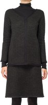 Max Studio Boucle Checked Wool Pullover