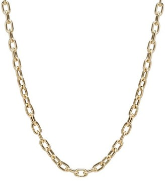 Zoë Chicco Heavy Metal 14K Yellow Gold Extra-Large Square-Oval LInk Necklace