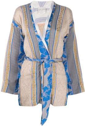 Forte Forte Panelled Pattern Tie Waist Jacket