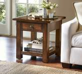 Pottery Barn Benchwright Square Side Table, Rustic Mahogany