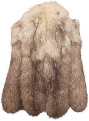 Frederic Sage Beige Fox Jacket for Women