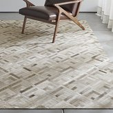 Crate & Barrel Dez Grey Cowhide Rug