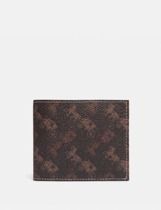 Coach Double Billfold Wallet With Horse And Carriage Print