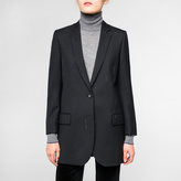 Paul Smith Women's Black Wool Blazer With Faint Pinstripe
