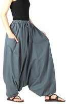 CandyHusky's 100% Cotton Baggy Boho Gypsy Hippie Harem Pants Unisex Plus Size