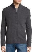 Black Brown 1826 Wool-Blend Zip-Up Sweater