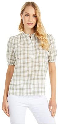 Lucky Brand Feminine Popover Top (Natural Multi) Women's Clothing