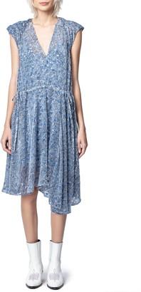 Zadig & Voltaire Rozane Burnout Velvet Dress