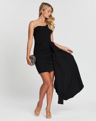 Bariano Esmee One-Shoulder Ruffle Dress