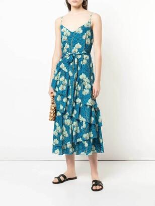 Borgo de Nor mixed print midi dress