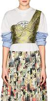 Prada Women's Pleated Jacquard Crop Top