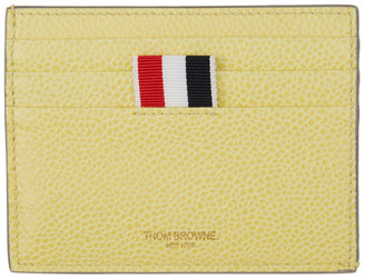 Thom Browne Yellow Double Sided Card Holder