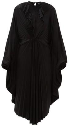Vetements Pleated Jersey Midi Dress - Womens - Black
