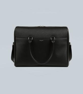 Saint Laurent Duffle embossed-leather briefcase