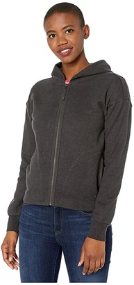 Prana Cozy Up Zip-Up Jacket (Charcoal Heather) Women's Coat