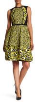 Oscar de la Renta Silk Blend Printed Dress