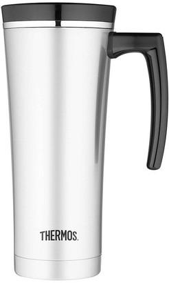 Thermos 470ml Sipp Stainless Steel Vacuum Insulated Travel Mug Black Trim