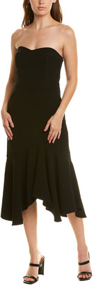 Halston Flared Midi Dress