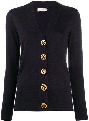 Tory Burch Branded Button Cardigan