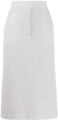 Thom Browne Striped Straight Skirt