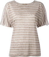 Cruciani striped knitted top - women - Linen/Flax - 40