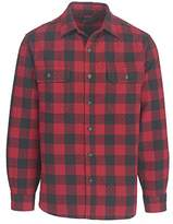 Woolrich Men's Old Valley Double Cloth Quilted Plaid Shirt