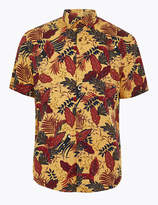 Limited EditionMarks and Spencer Cotton Leaf Print Shirt