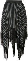 Preen Line asymmetric fringed skirt