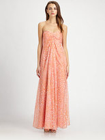 Laundry by Shelli Segal Printed Strapless Gown