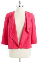 Anne Klein Draped Flyaway Suit Jacket