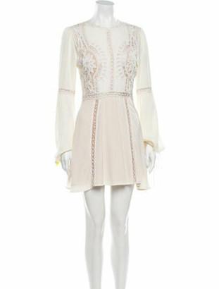 For Love & Lemons X Raye Crew Neck Mini Dress White