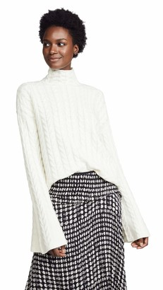 Theory Women's Cableknit Horseshoe Turtleneck