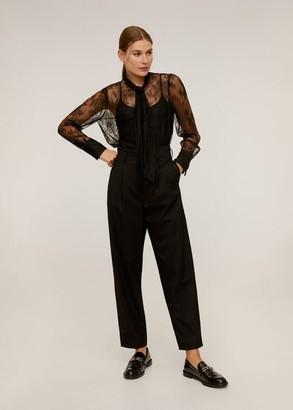 MANGO Floral lace blouse black - 2 - Women