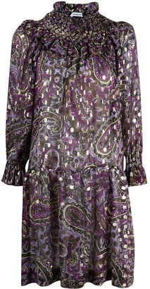 P.A.R.O.S.H. Paisley-Print Smocked Neck Dress