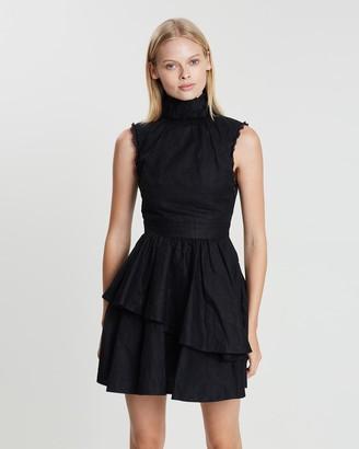 Asilio Cotton Organdy Pleated Dress
